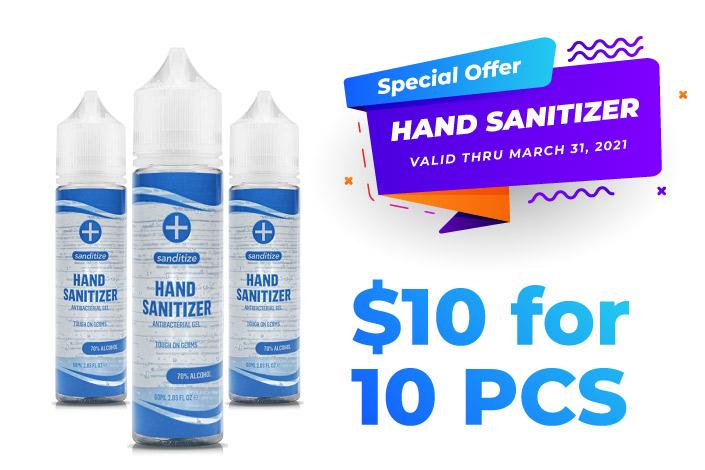 hand sanitizer special offer